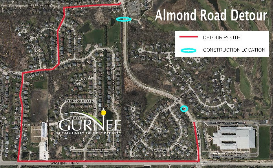 Temporary Closure of Almond Road Beginning Monday, March 26th
