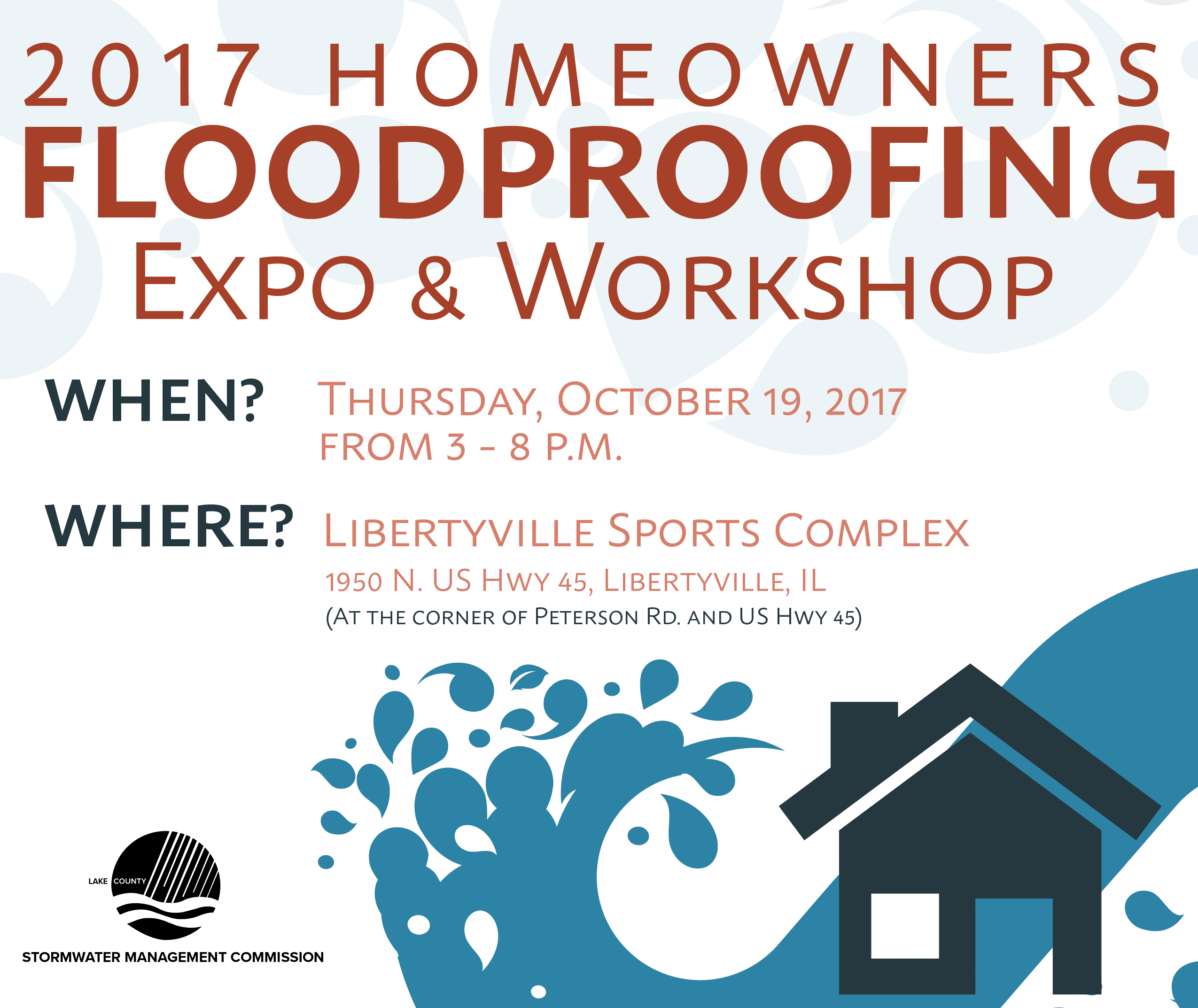 Lake County Hosts Homeowners Floodproofing Expo and Workshop: Oct. 19, 2017
