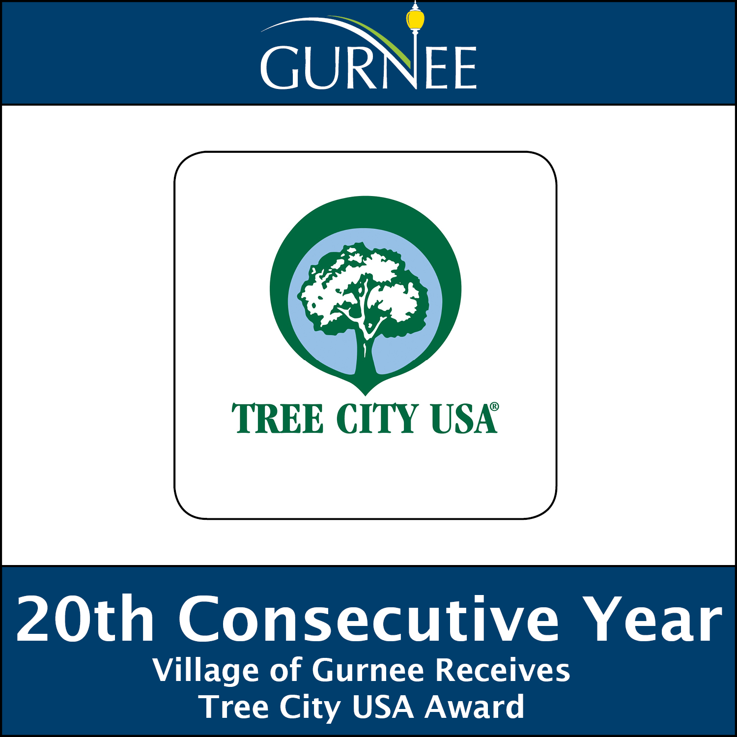 Arbor Day Foundation Names Gurnee Tree City USA for 20th Year