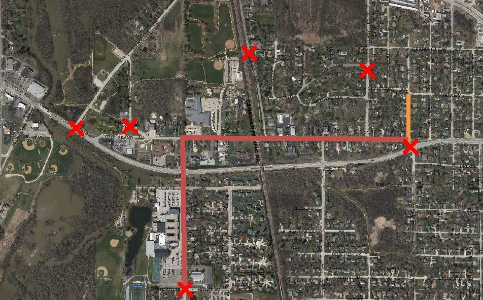 WTHS Homecoming Parade Route