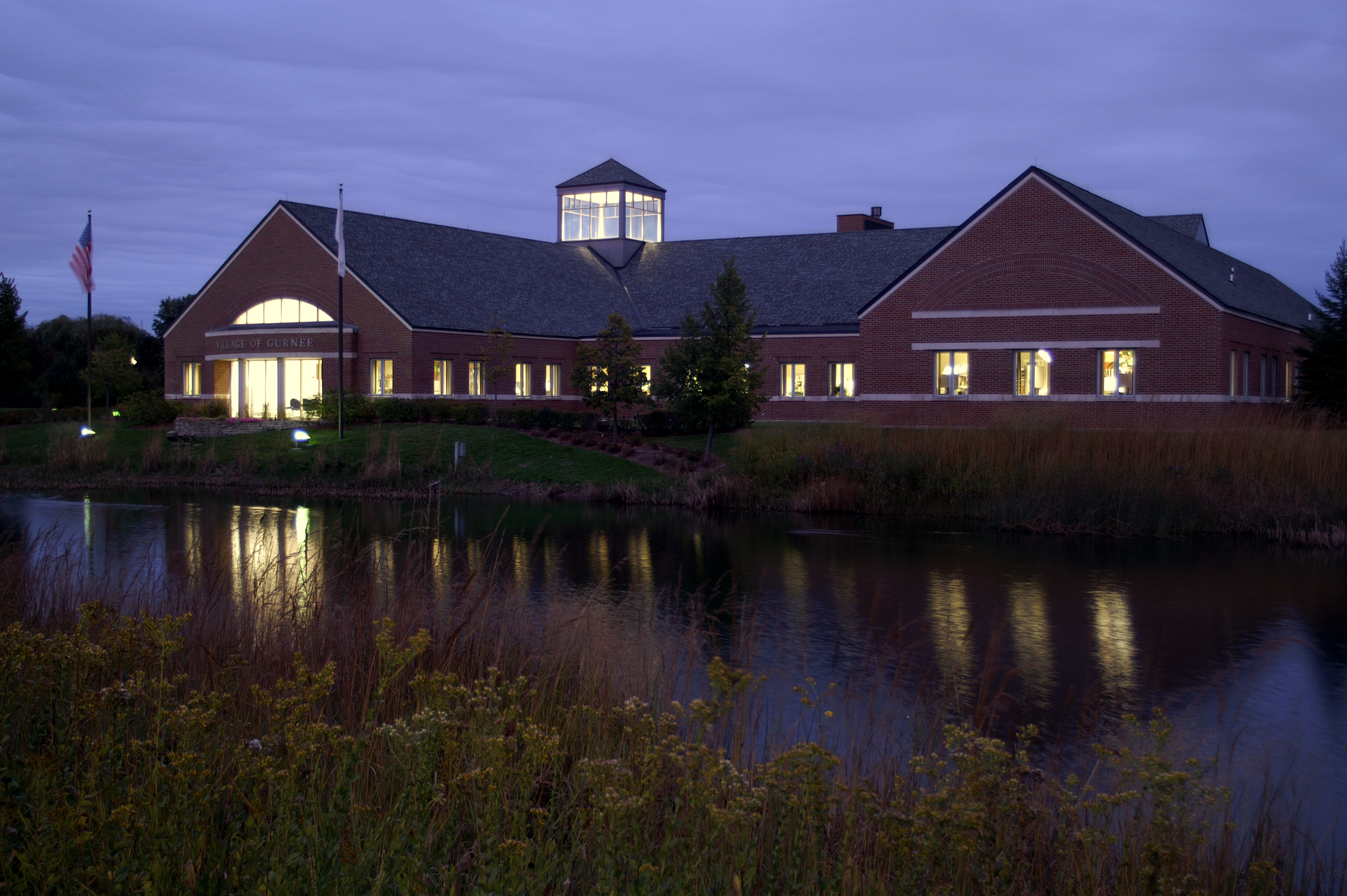 Village Hall at Night